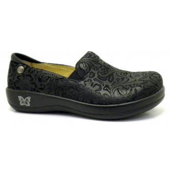 Kelli - Black Embossed Paisley